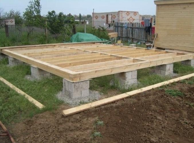 установка дома на фундамент