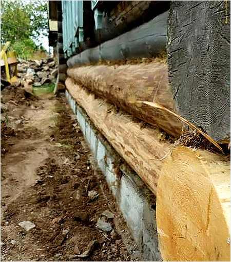 процесс восстановления основания дома