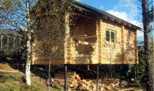 дом на винтовом фундаменте