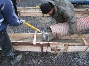 Заливка бетона должна выполняться только по технологиям